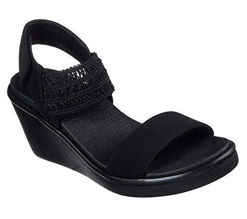 Skechers Rumble On - Sandalias para mujer en color negro, color Negro, talla 37 EU
