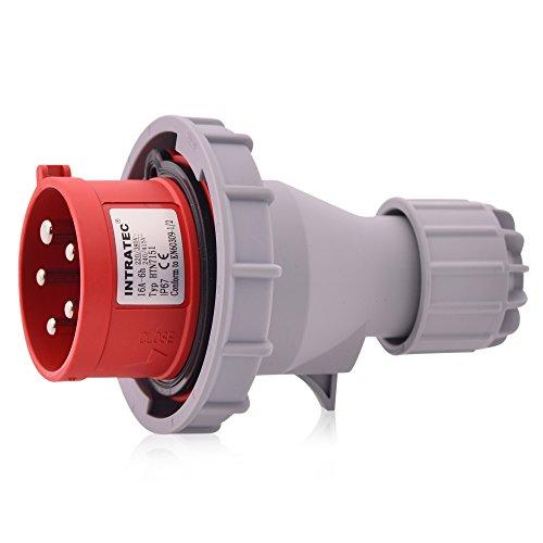 CEE Inverter di fase a corrente forte 32A 400V 6h IP67 (resistente agli spruzzi d'acqua) 5 poli (3P+N+T): connettore industriale e multifase IEC-60309 robusta qualità industriale