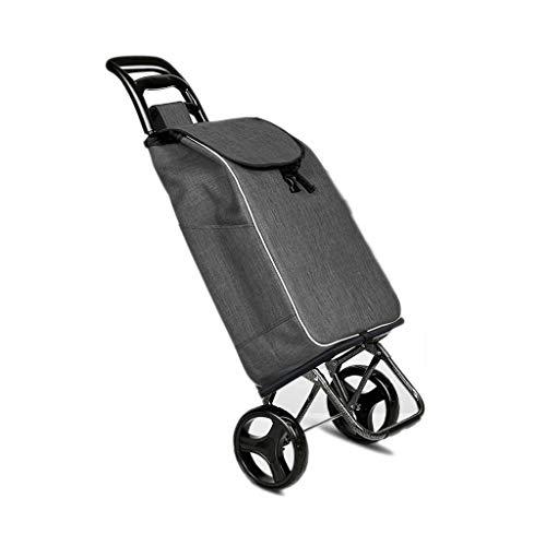 LXCS Portable Domestica Trolley, Pieghevole Carrello, Anziani Fare la Spesa rimorchio, Trolley Trolley Bagaglio - 35x20x95cm Dimensioni (Color : Black)