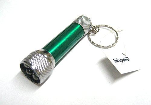 Infapower Portable 5 Mini lampe torche LED en aluminium avec porte-lampe torche porte-clés F026