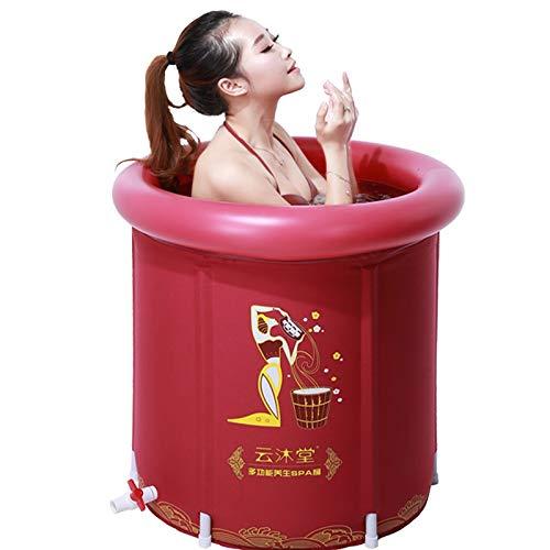 Zhangmeiren Adulto Isolamento Termico Spessore Vasca Pieghevole Vasca Botte Botte E Gonfiabile Bacino Vasca (Color : Red)