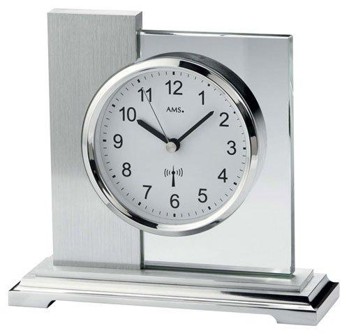 AMS Moderno orologio da tavolo con radio Werk, funzionamento a batteria–Modern Style 5140by