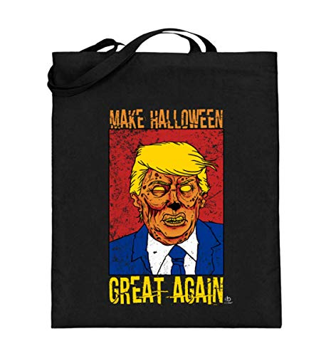 EBENBLATT Make Halloween Great Again anti Trump USA Amerika America Pumpkin Geschenk Geschenkidee - Jutebeutel (mit langen Henkeln)