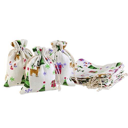 UEETEK Pochettes Sachets avec Cordon Sacs en Jute,Sacs-Cadeaux de Serrage Pochettes à Bijoux pour Cadeaux Bonbons Mariage Anniversaire