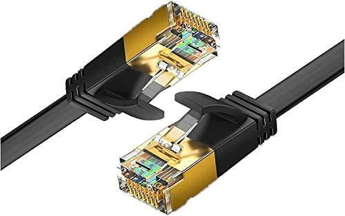 Reulin Ethernet-kabel 1,2 m - Cat.7 Flat Lan-kabel 10G för Wifi-förlängare, modem router, internet booster, nätverksomkopplare, RJ45-kontaktadapter, Ethernet-splitter, PS3-PS4 Pro, bärbar dator, dator (1,2 m)