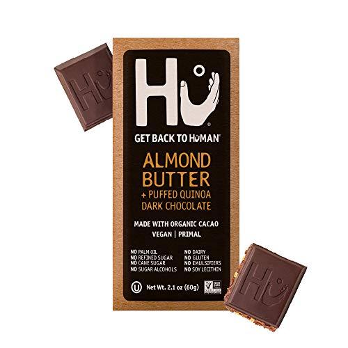 Hu Chocolate Bars | 4 Pack Salty Chocolate | Natural Organic Vegan, Gluten Free, Paleo, Non GMO, Fair Trade Dark Chocolate | 2.1oz Each