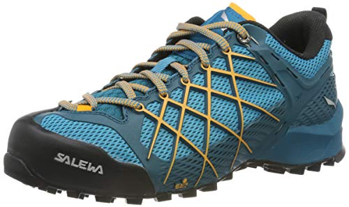 Salewa WS Wildfire, Zapatos de Senderismo Mujer, Azul (Malta/Glory), 35 EU