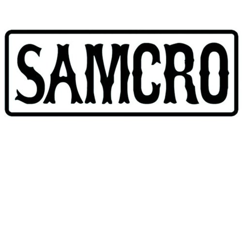 Sons Of Anarchy Samcro Text Écusson brodé Patch