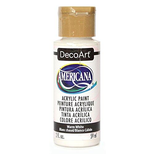 Deco Art Acrilico Americana dipingere 2 Once-Warm White/Semi-Opaque