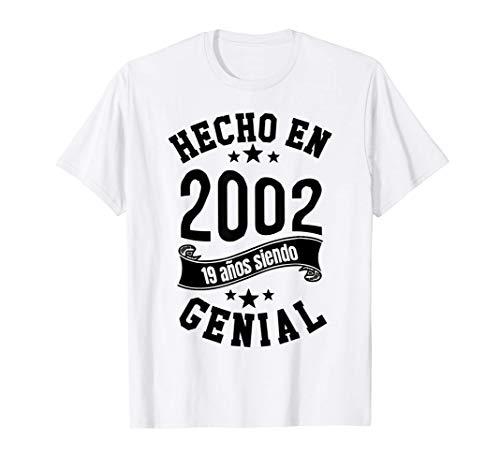 Hecho en 2002, 19 años siendo Genial Hombre Chica Regalo Camiseta