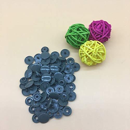 JINSUO SFFSM - Juego de 100/150/200 botones de resina para bebé T5 broches de plástico para ropa, accesorios de ropa, broches de presión (color: gris, tamaño: 100 juegos)