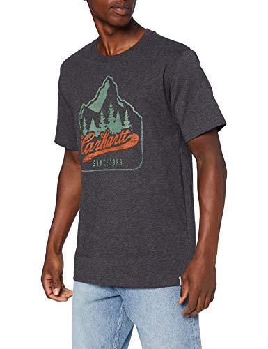 Carhartt Patch Logo Short-Sleeve T-Shirt, Carbon Heather, XS Uomo