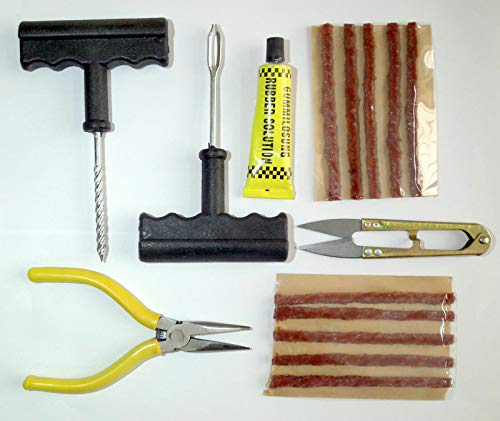 DELHI TRADERSS Complete Tubeless Tyre Puncture Repair Kit (Nose...