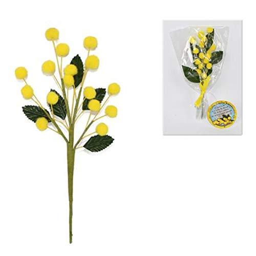 DUE ESSE Ramo RAMETTO Mimosa 8 X 11 CM Finta Fiori per Festa della Donna