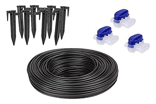Worx WA0460 Installations-Set (Kabel, Heringe, Stecker), Schwarz