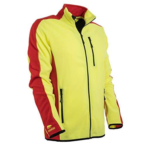FORSBERG Fleecejacke Bjarkir, Farbe:gelb/rot, Größe:M