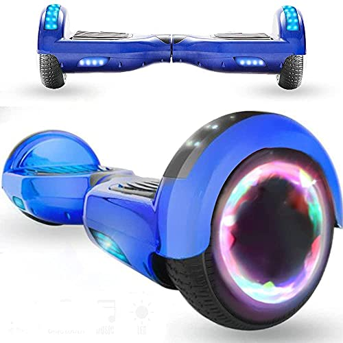 Magia Way Habilidad eléctrica por la borda 6 5 Pulgadas 700W Altavoz del Motor Bluetooth Bluetooth Luz LED para niños y Adultos (Azul)