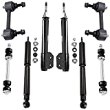 Detroit Axle - Front Struts w/ Coil Spring + Rear Shock Absorbers + Sway Bar Links Replacement for 1994-2004 Ford Mustang V6 - 8pc Set