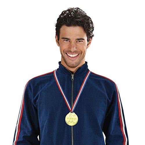 Amakando Médaille d'or première Place médaille de vainqueur doré Prix de compétition Sportif Gagnant Accessoire Costume