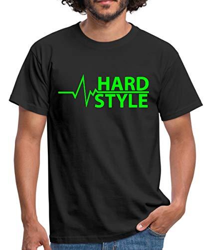 Hardstyle Pulsschlag Frequenz Musik Männer T-Shirt, L, Schwarz