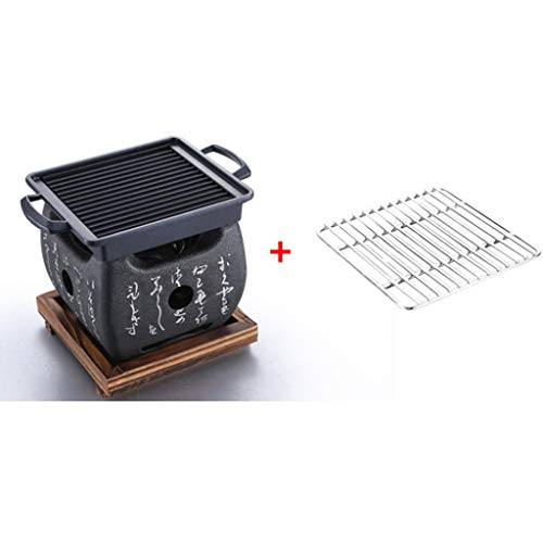 Best Bargain ZLH-Outdoor Charcoal Grill BBQ Grill - Mini Barbecue Home Charcoal Small Barbecue Stove...