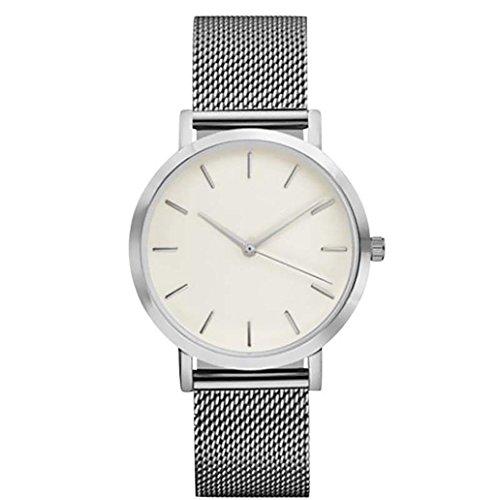Sunnywill Damen Schöne Mode Kristall Edelstahl Analoge Quarz Armbanduhr Uhr (A)