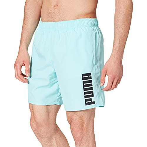 PUMA Mens Men's Mid Shorts Swim Trunks, Angel Blue, Large