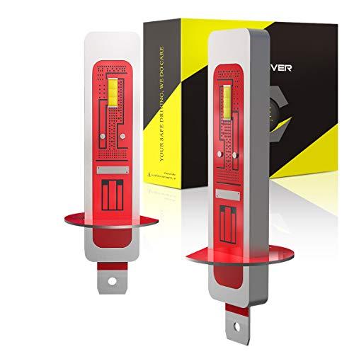 H1 LED Antiniebla, Luces de Antiniebla Delanteros 2000LM, 12V, 6000K Blanco (2 Bombillas)