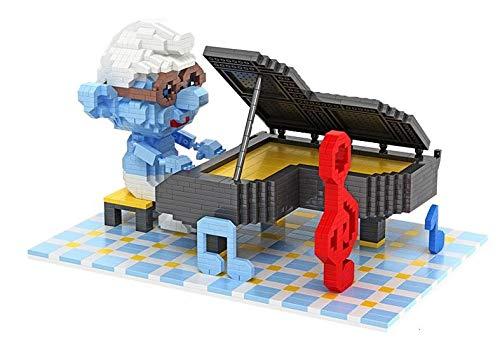 Zenghh Magia Building Blocks Smurfs Smurfette Y, Alzar la mano de la muñeca Nano Micro ladrillo 3D de la Asamblea cúbicos de los juguetes, Azul Duendes Modelo DIY Puzzle Games, escenas de películas fi