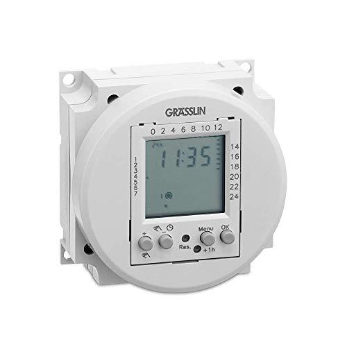 GRÄSSLIN 03.58.0017.1 - FMD 120 - digitale tijdschakelmodule - 1 kanaal - dag- en weekprogramma (ON/OFF) - 230 V