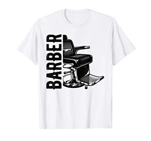 Friseur Barber Friseurstuhl Geschenk Haarschnitt Hairstylist T-Shirt