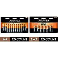 20-Count Duracell CopperTop AA & AAA Alkaline Batteries