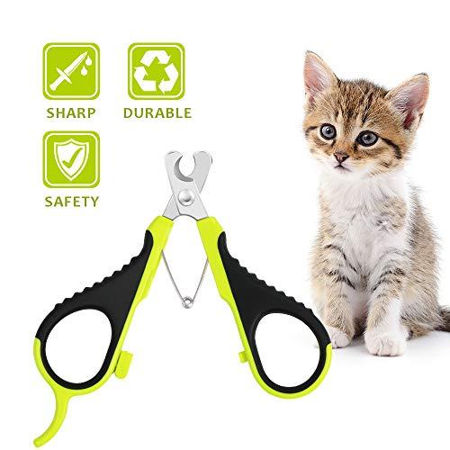 Wimaha Recortador de Tijeras para Mascotas Gato Tijeras recortador para Gatos Conejos y Animales pequeño cortaúñas para Garras de Gato Tijeras Acero Inoxidable