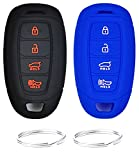 REPROTECTING Silicone Rubber Key Fob Cover Compatible with 2017-2021 Hyundai Accent Azera Elantra GT Kona Electric Veloster Veloster N 95440G80004X