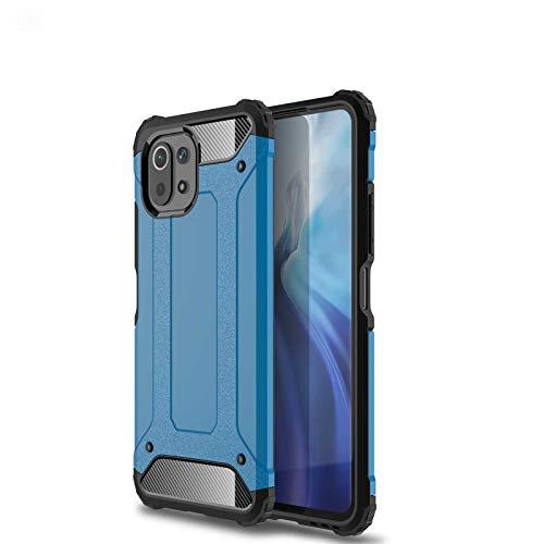 GOKEN Hülle für Xiaomi Mi 11 Lite 5G | Mi 11 Lite, [Armor Serie] Outdoor Stoßfest Handyhülle, Hybrid PC/TPU Doppelschicht Schutzhülle, Heavy-Duty-Schutz Bumper Armor Hülle Cover, Blau