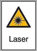 Indigos UG - laser waarschuwing combischild, kunststof, 26,2 x 37,1 cm - waarschuwing - veiligheid - hotel, firma, huis
