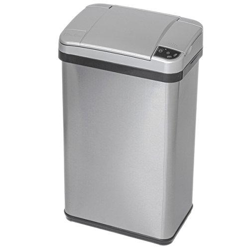 iTouchless Stainless Steel Multifunction Sensor Trash Can, 4-Gallon, Silver...