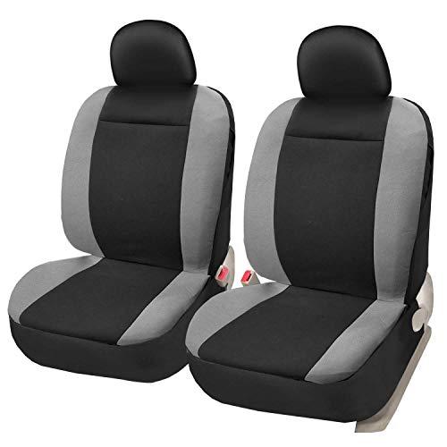 Asteri Autositzbezüge für Vordersitze Universal Schonbezüge 2 Sitzauflagen Auto Airbag Kompatibel Schwarz/Grau