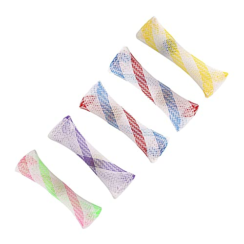 GUYAQ Braided Mesh Tube Toy Sensory Glass Marble Toys Home School Office Travel Time Consuming Braided Mesh Tube Toys Relax Finger,Style 2