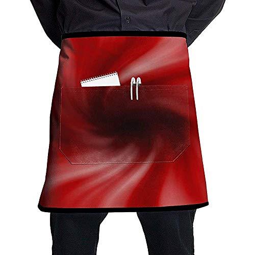 Trichter Rotation Schatten Flecken dunkle halbe Länge Schürze mit Taschen Unisex für Küche Restaurant BBQ