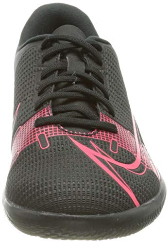 Nike Jr Vapor 14 Club IC, Football Shoe, Black/Black-Cyber-Siren Red, 36.5 EU