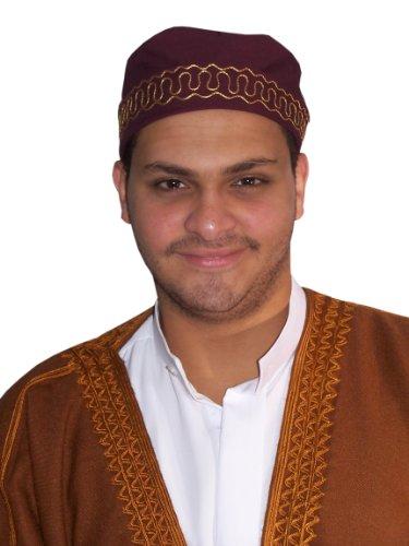 Egypt Bazar Traditionelle Arabische Kopfbedeckung - Araber - Karnevalskostüm/Farbe: weinrot