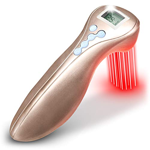 Cold Laser Therapy Device for Pain Relief- New 2020 Model-Gold. Suitable for Knee, Shoulder, Back, Joint and Muscle Pain Relief. Red Light Pain Therapy Improves Blood Circulation.