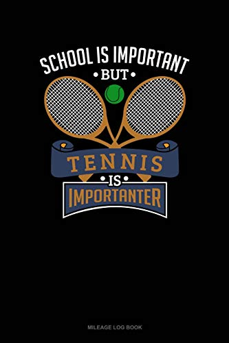 School Is Important But Tennis Is Importanter: Mileage Log Book: 670