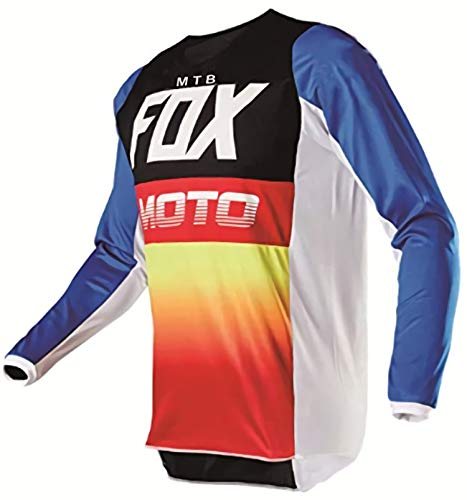 Maillot De Bicicleta De Montaña De Manga Larga MTB Fox Jersey Motocross...