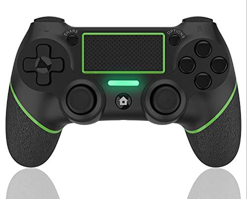 AQCTIM Mando para PS-4 Mando Inalámbrico para PS-4 Pro Slim PC, Controlador Bluetooth Gamepad Wireless Bluetooth Controlador Joystick con Vibración Doble