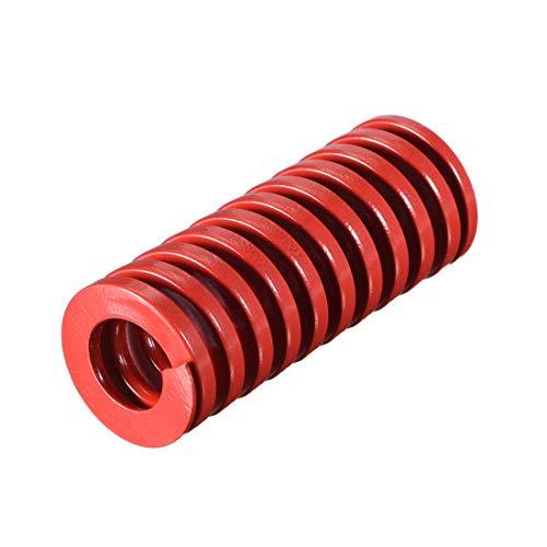 20 mm OD 50 mm lange Prägung Spiralform Kompressionsform für mittlere Belastung, Rot, 1 Stück
