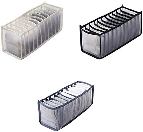 ZPTECH Drawer Organizers sold out 1 Sale 3pc Cloth Bra Boxes Underwear Storage