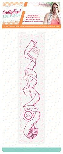 Sara Signature S-CF-STD-CMUG Crafty Fun Stempel und Stanzformen-Set Silber 4.7 x 5.5 zum Basteln in Einer Tasse