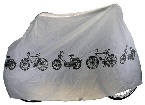 M-Wave Peva Funda Cubre-Bicicleta, Unisex Adulto, Gris, Talla Única